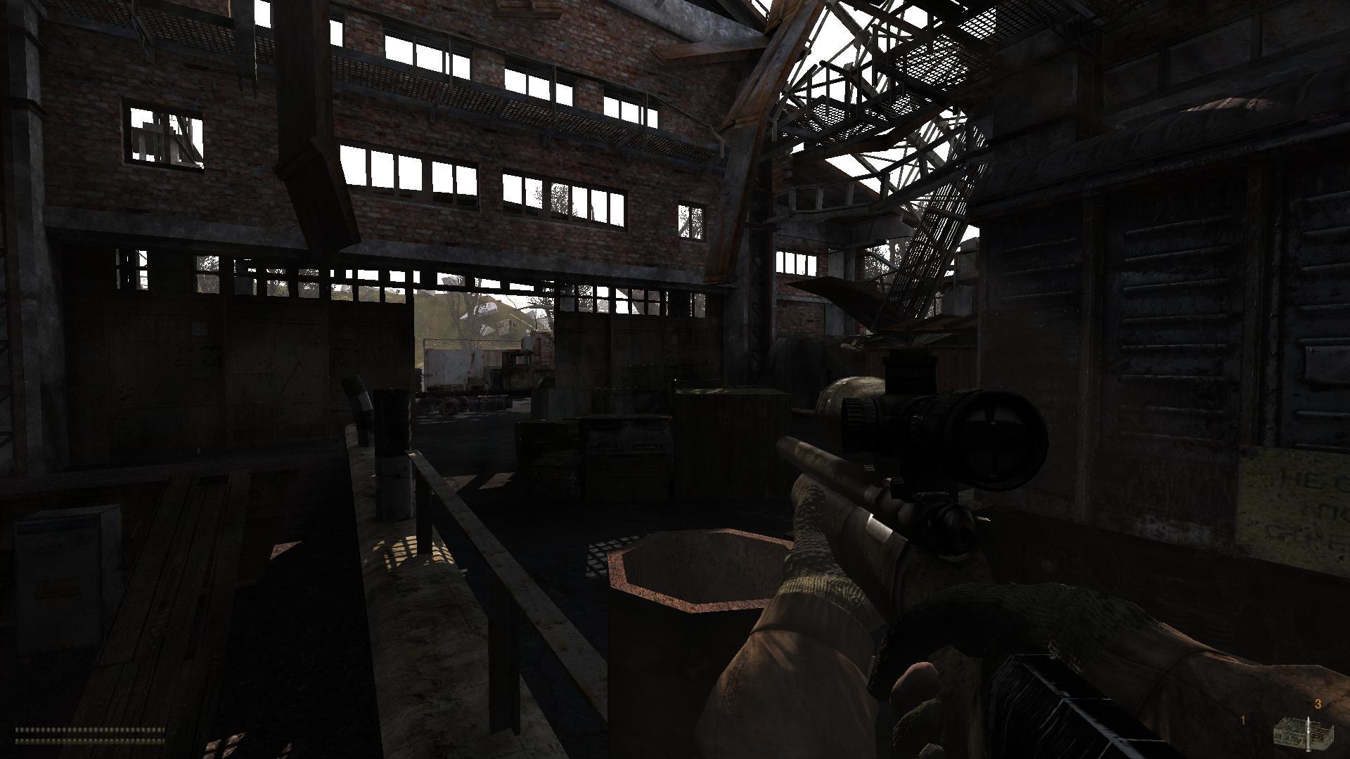 Ангар в игре Stalker Anomaly
